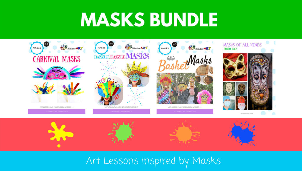 Masks art lesson bundle