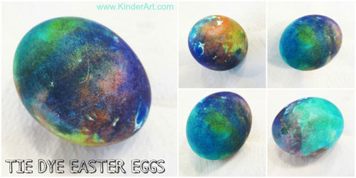 Tie Dye Easter Eggs Instructions from KinderArt.com
